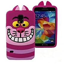 LliVEER 3D Cute Cartoon Silicone Monster Tiger Catt Ruerbber Back Case Cover For Samsung Galaxy S5 i9600 Alice Cat