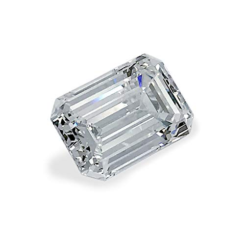 Albert Hern 5.41 cts VVS1 Clarity Natural Diamond Emerald Cut Shape Color H GIA Certified for Jewelry Making or Loose Gemstone ()