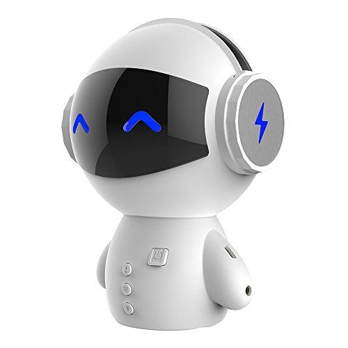 ZAILHWK Portable Wireless Bluetooth Stereo Speaker Handsfree Music Box Loudspeaker Robot Smart Bluetooth Speaker with Power Bank
