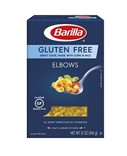 Barilla Gluten Free Pasta Elbows 12 Ounce Pack of 8