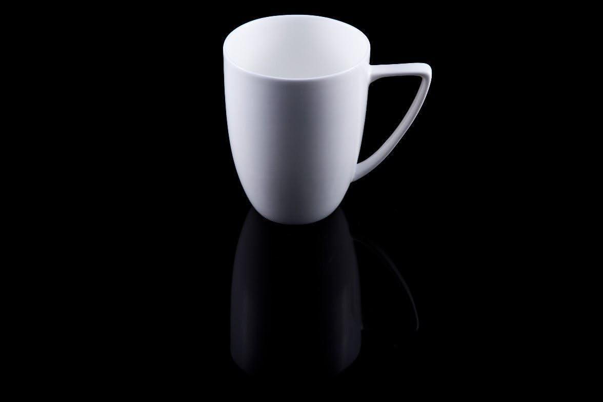 4 X Sabichi LARGE  Bone China Geometric Cross White Grey Mug 7894