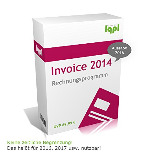 lqpl Invoice 2014 (2016) Rechnungsprogramm - Angebote, Lieferscheine, Rechnungen, Gutschriften, etc. (Keine zeitliche Begrenzung!) 2015