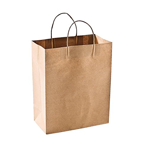 Green Direct Reusable Brown Paper Shopping Bags - Grocery Bags Pack of 50