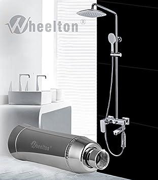 Hogar Baño purificador de agua filtro – dechlorination, piel baño ...