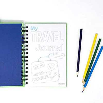 Travel Journal for Kids- Fun and Easy Way to Document Several Childhood Vacations in One Journal (Green): Office Products