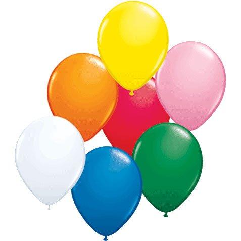 17 Inch Latex Balloons Assortment (Premium Helium Quality) Pkg/50