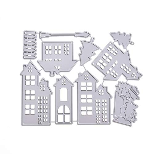 LoXTong Christmas House Cutting Dies Stencil DIY Scrapbooking Embossing Paper Card Decor