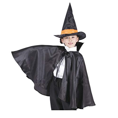 PATYMO Witch's Apprentice Hat and Cape (Halloween Costume) - Child One Size -
