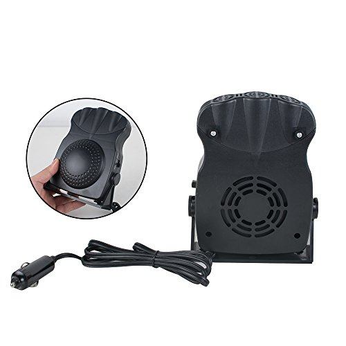 Enshey Car Heater Portable Fast Heating Quickly Defrosts Defogger 12V 150W Auto Ceramic Heater Cooling Fan Car Vehicle Heating Cooling Fan Defroster Demister Winter Windscreen Window Demister
