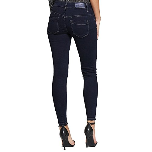 Mid Outlet Stretch Womens Jeans Fit One New Blue Navy Denim Skinny Distressed Button Wash Deep Simply Chic n51fqw5I