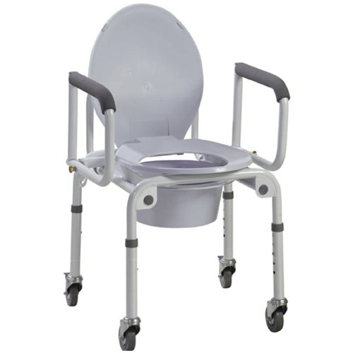Drive Wheeled Drop Arm Commode - 11101W