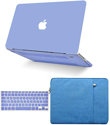 """KECC Laptop Case for MacBook Air 13"""" Retina (2020/2019/2018, Touch ID) w/Keyboard Cover + Sleeve Plastic Hard Shell Case A1932 3 in 1 Bundle (Pale Blue)"""