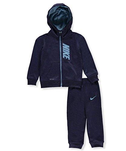 NIKE Boys' 2-Piece Dri-Fit Tracksuit - Binary Blue Heather, 3t