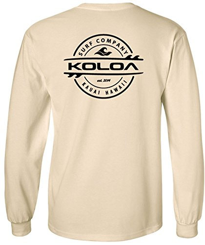 Koloa Long Sleeve Thruster Logo Heavy Cotton T-Shirt-Natural/b-M