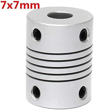 Wellen-Unterstützung Flexible Wellenkupplung OD19mm x L25mm CNC Schrittmotor-Koppler-Verbindungs 7mm x 7mm
