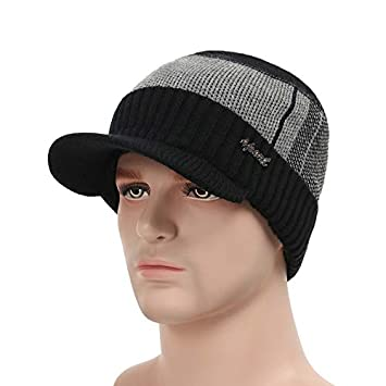7d7119caebf HOKUGA  2018 Winter Hats For Men Skullies Beanie Hat Winter Cap Men Women  Wool Scarf