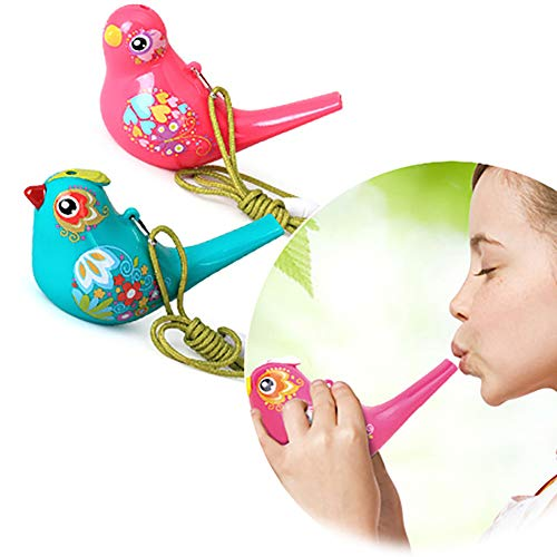 HsgbvictS Learning & Education 1Pc Coloured Drawing Water Bird Shape Whistle Musical Instrument Kids Toy Gift - Random Color
