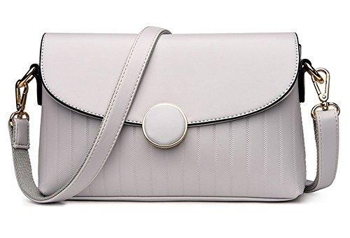 Bolsos de señora Middle-Aged Xinmaoyuan Madre Pu Cross-Style Pequeño encapsulado cuadrado Cruz hombro paquete hembra, negro Blanco