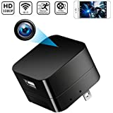 Spy Camera Wireless Hidden Cameras Charger Nanny Cam USB Wall Adapter HD 1080P WiFi Mini Cams Plug for Home Security Motion Detection Remote View on Phone APP