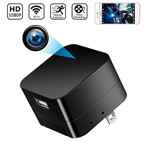 Hidden Cams - Spy Camera Wireless Hidden Cameras Charger Nanny Cam USB Wall Adapter HD 1080P WIFI Mini Cams Plug for Home Security Motion Detection Remote View on Phone APP