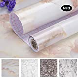"Art3d Marble Contact Paper Countertops - Self Adhesive Shelf Drawer Liner - Decorative Contact Wallpaper - Waterproof, Peel and Stick, Easily Removable (17.71"" x 78.74"")"