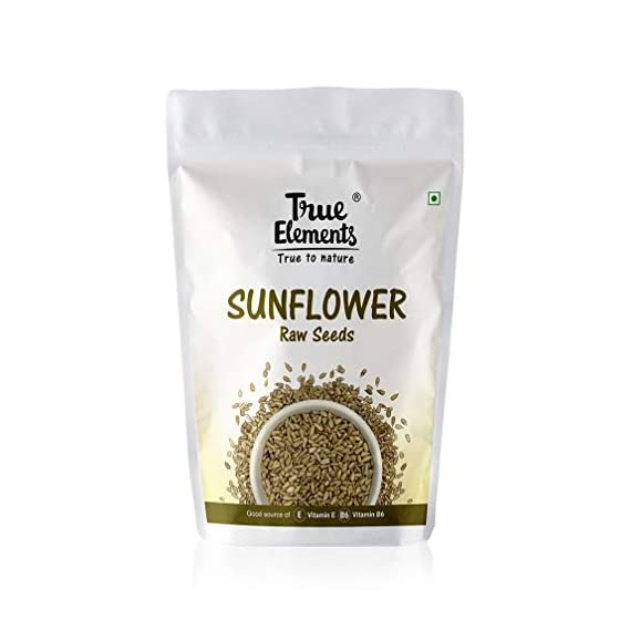 True Elements Raw Sunflower Seeds 500gm - Sunflower Seeds for Eating