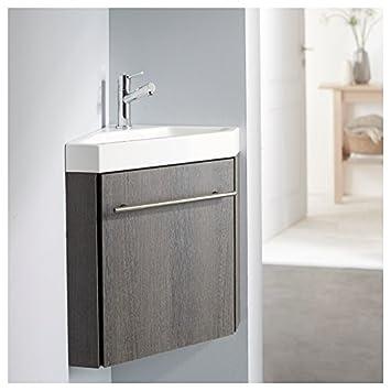 Lave-Mains D'Angle Complet Avec Meuble Moderne Couleur Wengé: Amazon