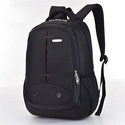 Fen Fashion Sports Schulter Computer Rucksack Reißverschluss Pocket Business Laptoptasche Rucksack (schwarz, rot), schwarz