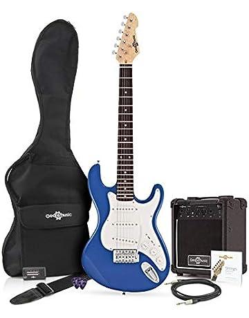 Guitarra Eléctrica LA 3/4 + Paquete de Amplificador de 10 W Azul