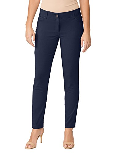 89th + Madison Women's Five Pocket Stretch Straight Leg Pants
