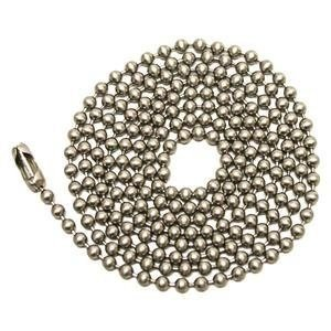 Brushed Nickel 3' Pull - Westinghouse 7723800 3' Brushed Nickel Chain With Connector