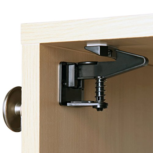child safety cabinet locks latches by safe latch no tools drilling or screws baby proof. Black Bedroom Furniture Sets. Home Design Ideas