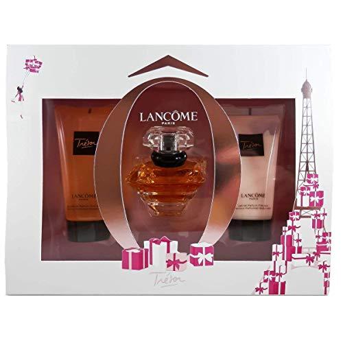 Lancome Tresor Gift Set 1.0oz (30ml) EDP + 1.7oz (50ml) Body Lotion + 1.7oz (50ml) Shower Gel (Cream Parfum For Women Lancome)