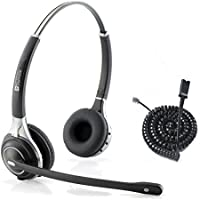 Premium Double Ear Ultra Noise Canceling Call Center / Office Headset & Cable For Cisco IP Phones 7931G 7940 7941 7942 7945 7960 7961 7962 7965 7970 and M12, M22 Amplifiers