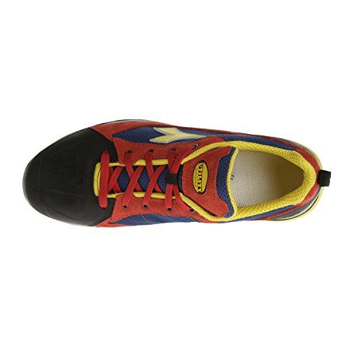 Diadora-chaussure Basse Jet Textile Rouge/bleu Net Revolution - 158596-41