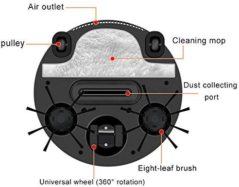 Aspirateur Domestique, aspirateur Robot Ultra-Mince Portable, Robot de Balayage Intelligent, aspirateur à Aspiration Forte et silencieuse, Noir