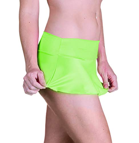 Delicate Illusions Sexy Micro Mini Stretch Short Skirt for Women Standard Dress Size S (3-5) Lime ()