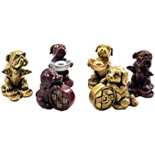2018 Chinese year of dog Horoscope Chinese Zodiac Handmade Resin Dog Collectible statue Figurine Sculpture feng shui 6 DOGS TO ACTIVATE PROSPERITY