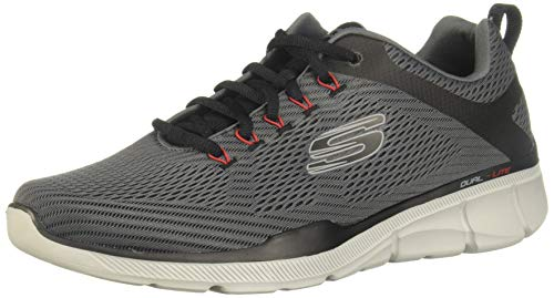 Skechers Men's Equalizer 3.0 Oxford, Charcoal/Black, 13 4E US (Skechers Oxford Mens Shoes)