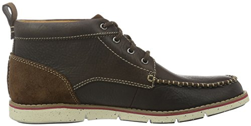 Clarks Herren Kyston Kurzschaft Stiefel Braun (Dark Brown Lea)