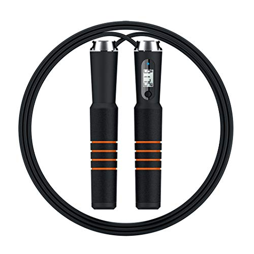 SODIAL Smart Bluetooth Jump Rope Cross Fit Digital Calorie Speed Counter Jump Ropes for Exercise Alarm Reminder Weight Setting#294088