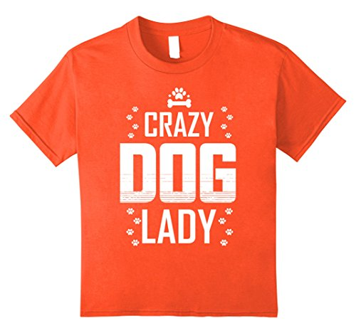 Kids Walker Costume (Kids Cute Crazy Dog Lady T-Shirt 8 Orange)