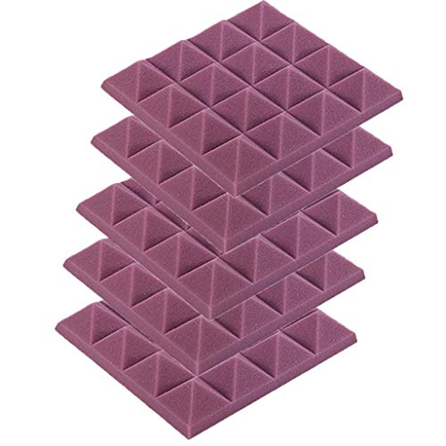 (FIged Foamily 5 Pack - Acoustic Foam Sound Absorption Pyramid Studio Treatment Wall Panels, 2