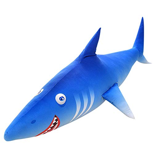 Baulody Sea Animal - Blue Shark Plush Toys Big Fish Cloth Doll Whale Stuffed Plush Sea Animalschildren Birthday Gift - Rabbit Toy Bunny Pillow Soft Kids Cute Dolls (20CM) ()