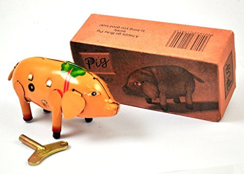 Wind-Up vintage Collectible Tin toy Pig