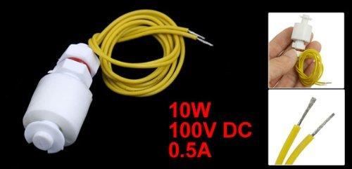 DealMux Tanque Piscina Nível de Líquido Sensor ângulo direito interruptor de bóia, 100V, DC, 0, 5 Amp, branco com amarelo: Amazon.com: Industrial & ...