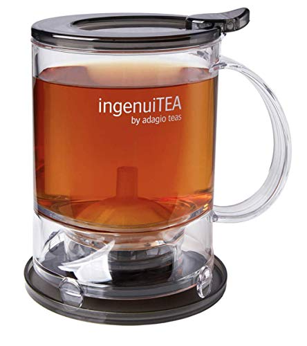 Adagio Teas IngenuiTEA 2 Bottom Dispensing Teapot, 16 - Loose Brewer Leaf Tea