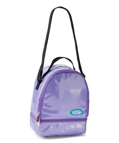 Rockin' Candy Lunch Bag - Back To School - Customizable Insulated Tote with Stickers - Purple