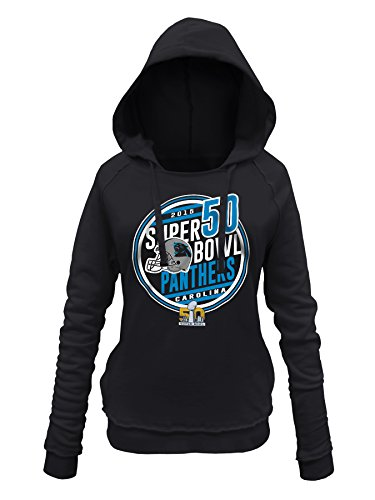 NFL Carolina Panthers Women's Super Bowl Bound Hooded Sweatshirt, Black, Medium