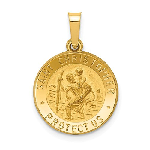 t Christopher Medal Pendant Charm Necklace Religious Patron St Fine Jewelry For Women Gift Set ()